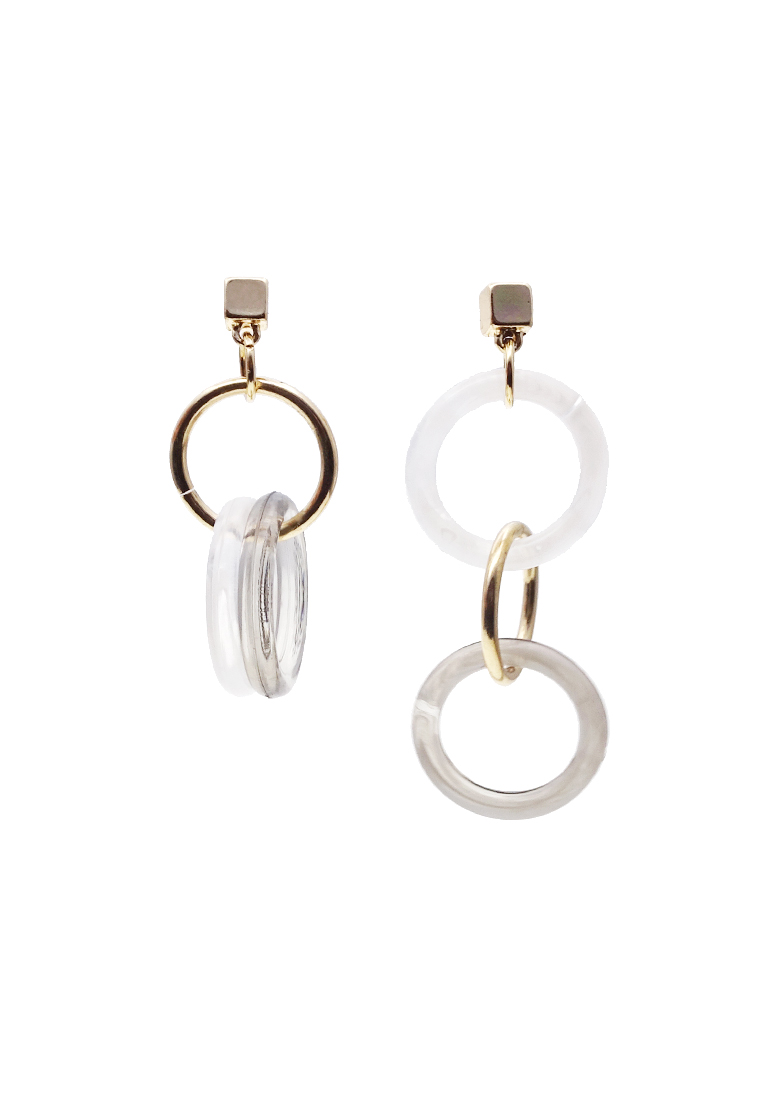 circle chanel mark i silver coco drop tradesy circular limestone earrings
