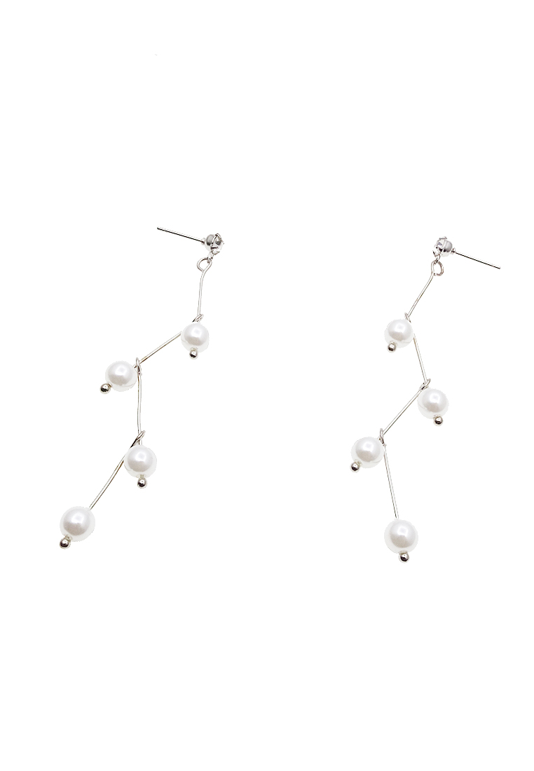White Lightning Earrings