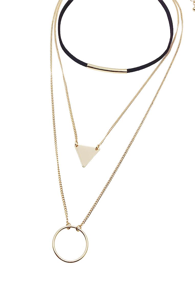 Geo Charm Layering Choker Necklace