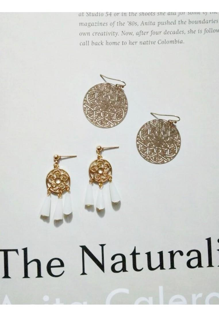 2 x Dainty Filigree Earrings Set