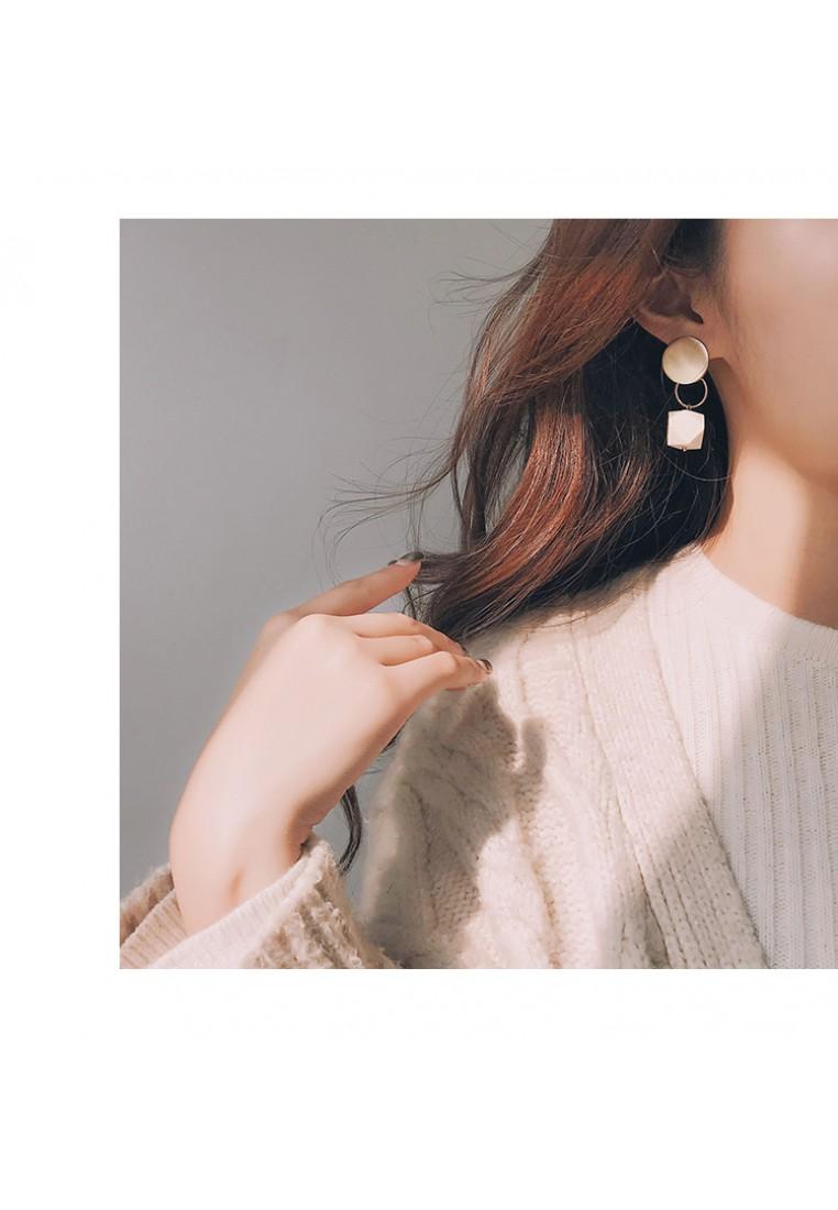 Elry Geometric Wood Earrings