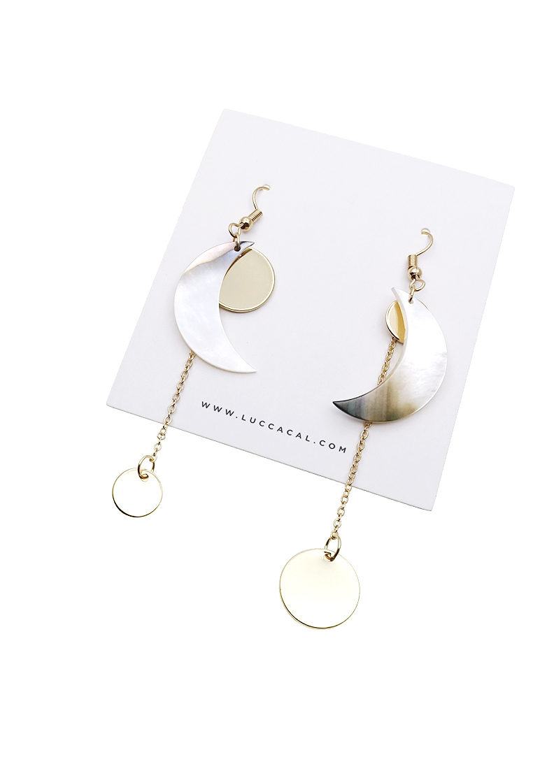 Mariachi Crescent Drop Earrings