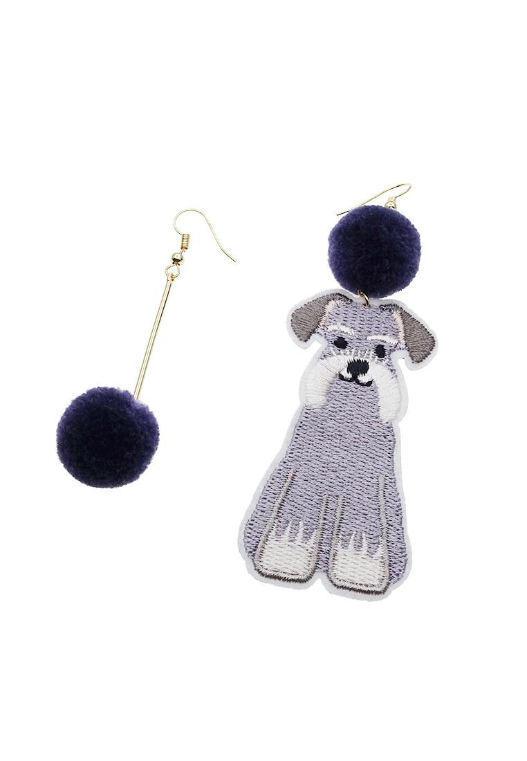 Dog Embroidery Earrings