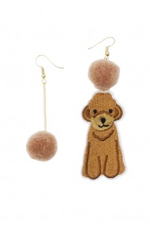 Dog Embroidery Earrings