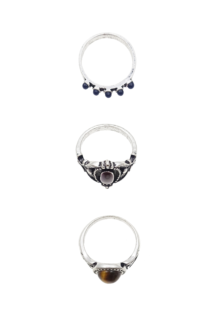 3 x Remia Stoned Ring Set