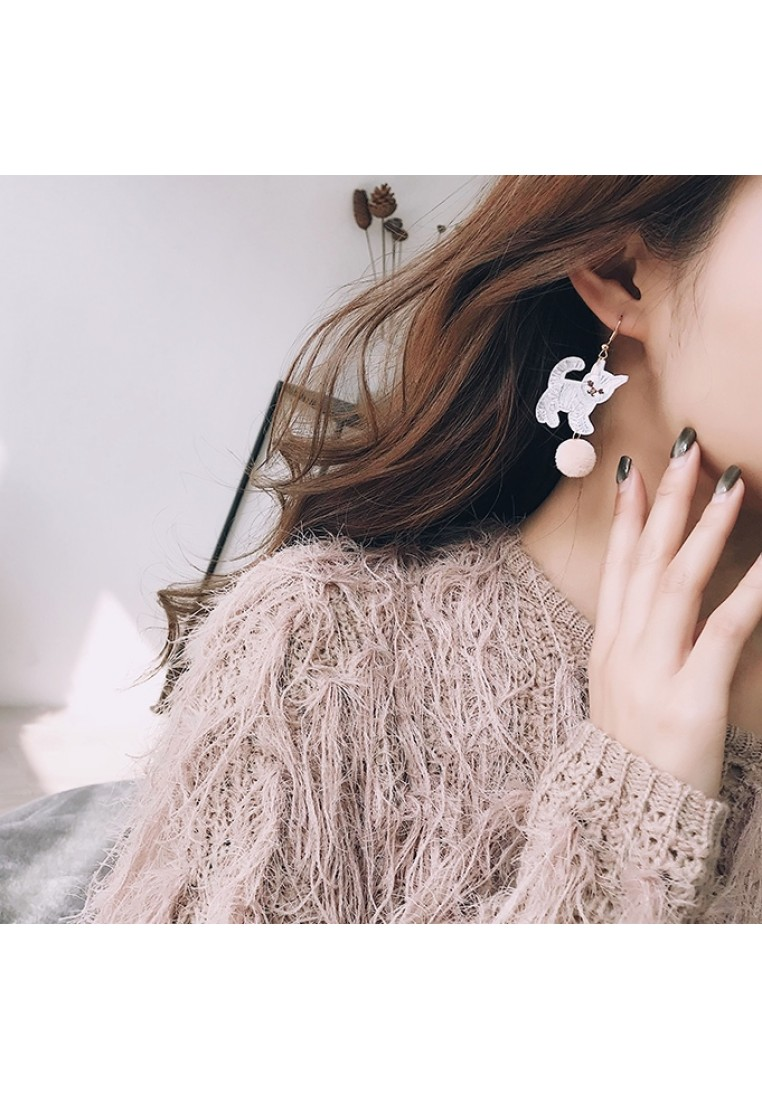 Embroidery Animal Earrings