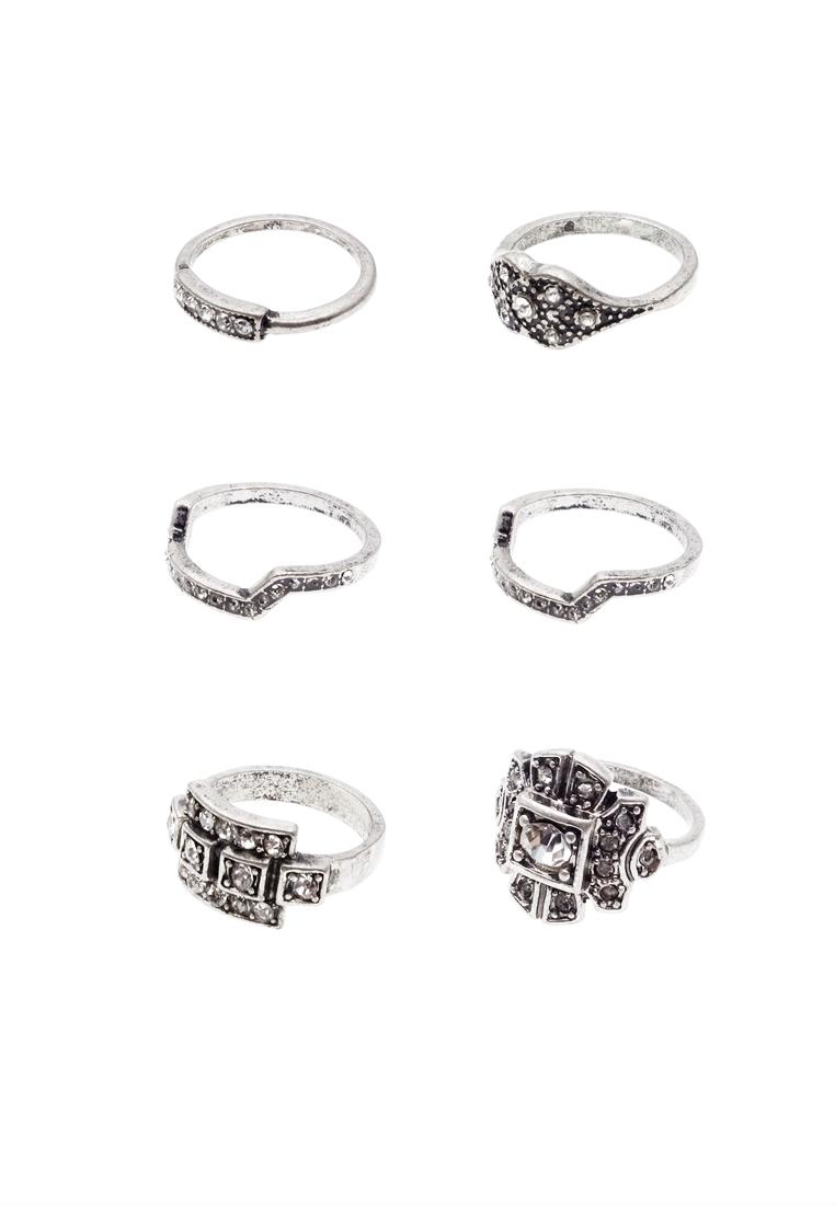 6 x Andromeda Midi Ring Set