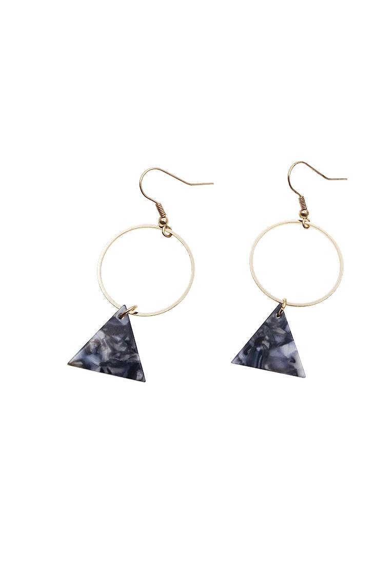 Marble Circle Earrings