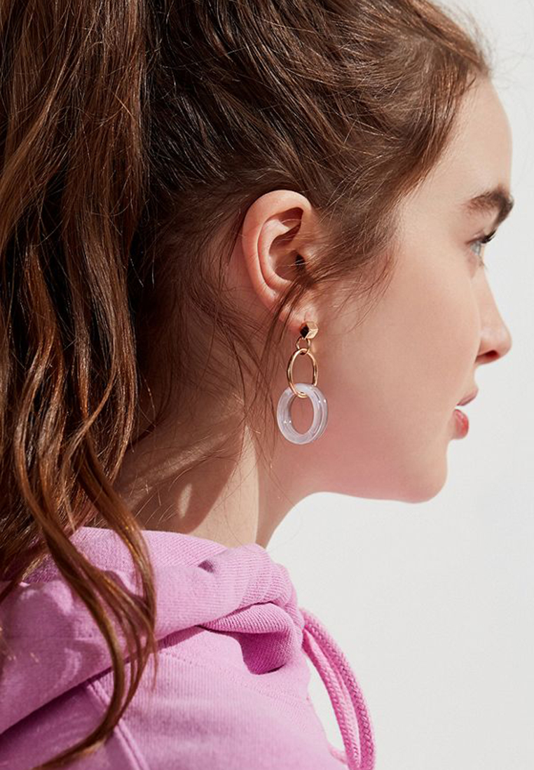 Ella Circle Drop Earring
