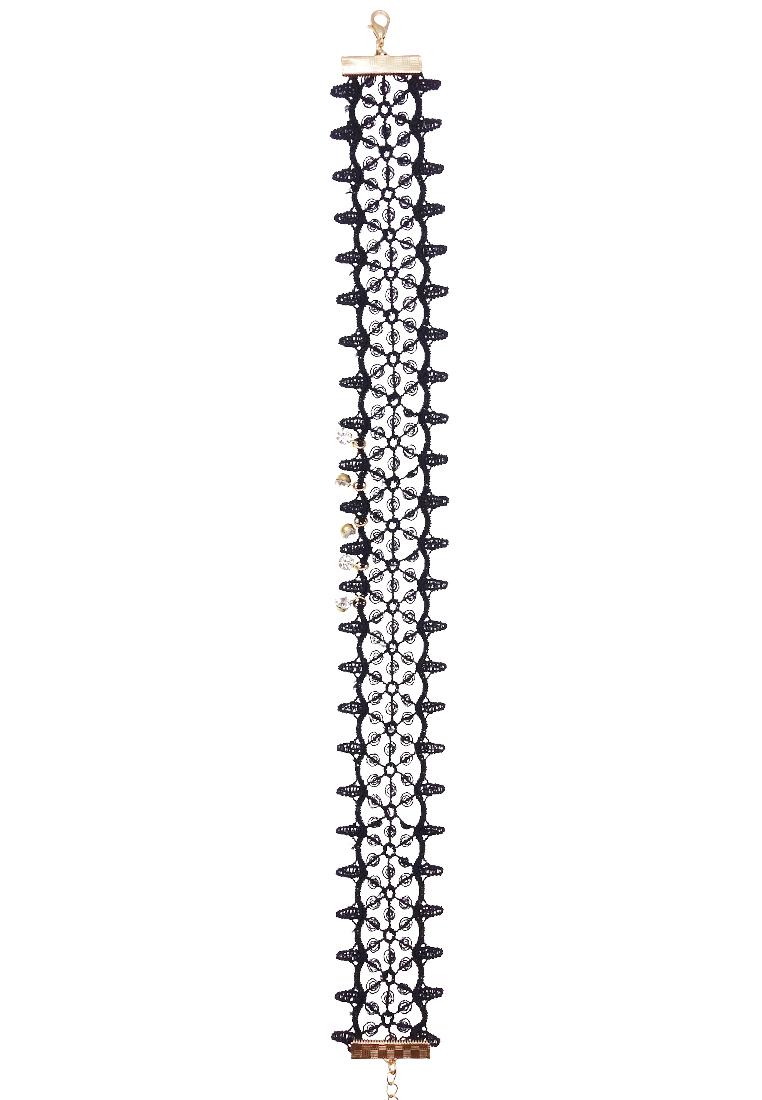 Embellished Crochet Choker