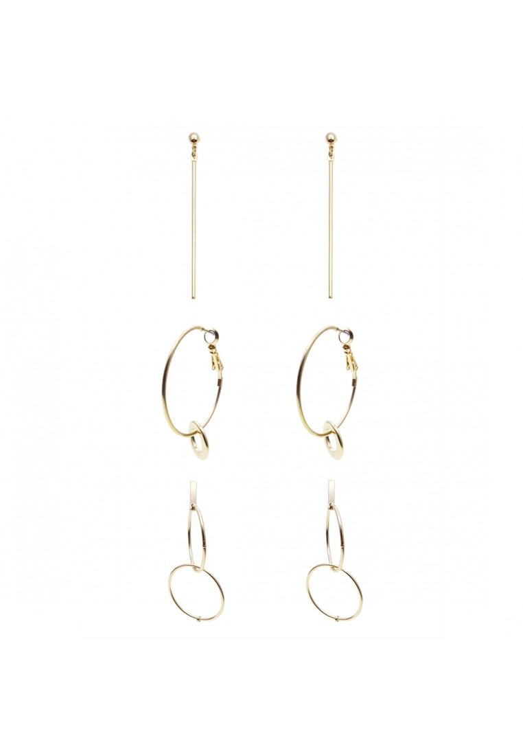 3 x Geo Shape Earrings