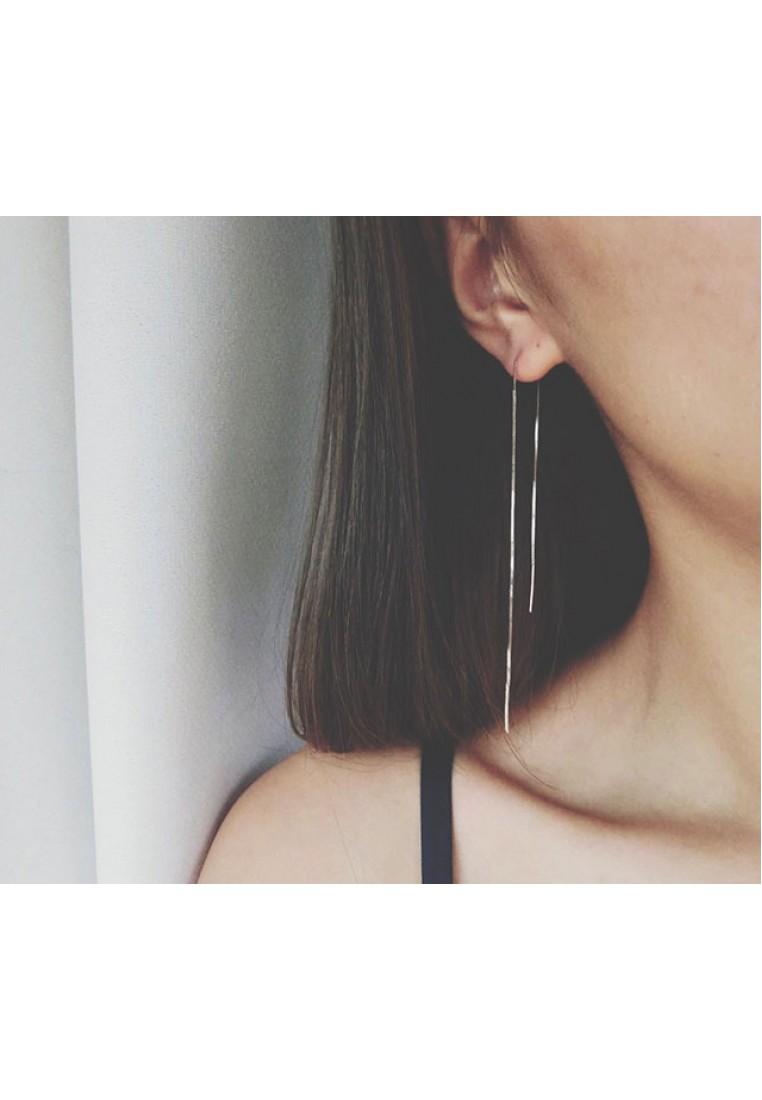 Bar Threader Earrings  (925 Silver)