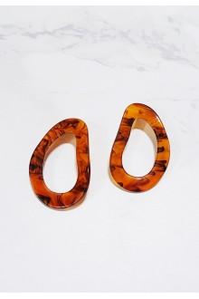 Rio Resin Hoop Earrings