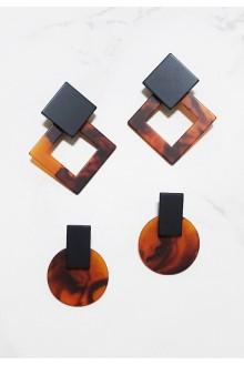 Geo Resin Earrings
