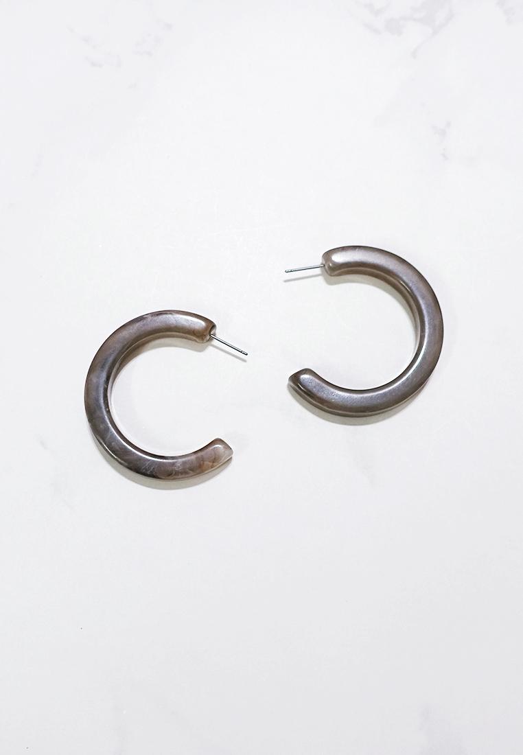 Roux Resin Hoop Earring