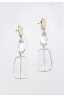 Transparent Drop Earrings