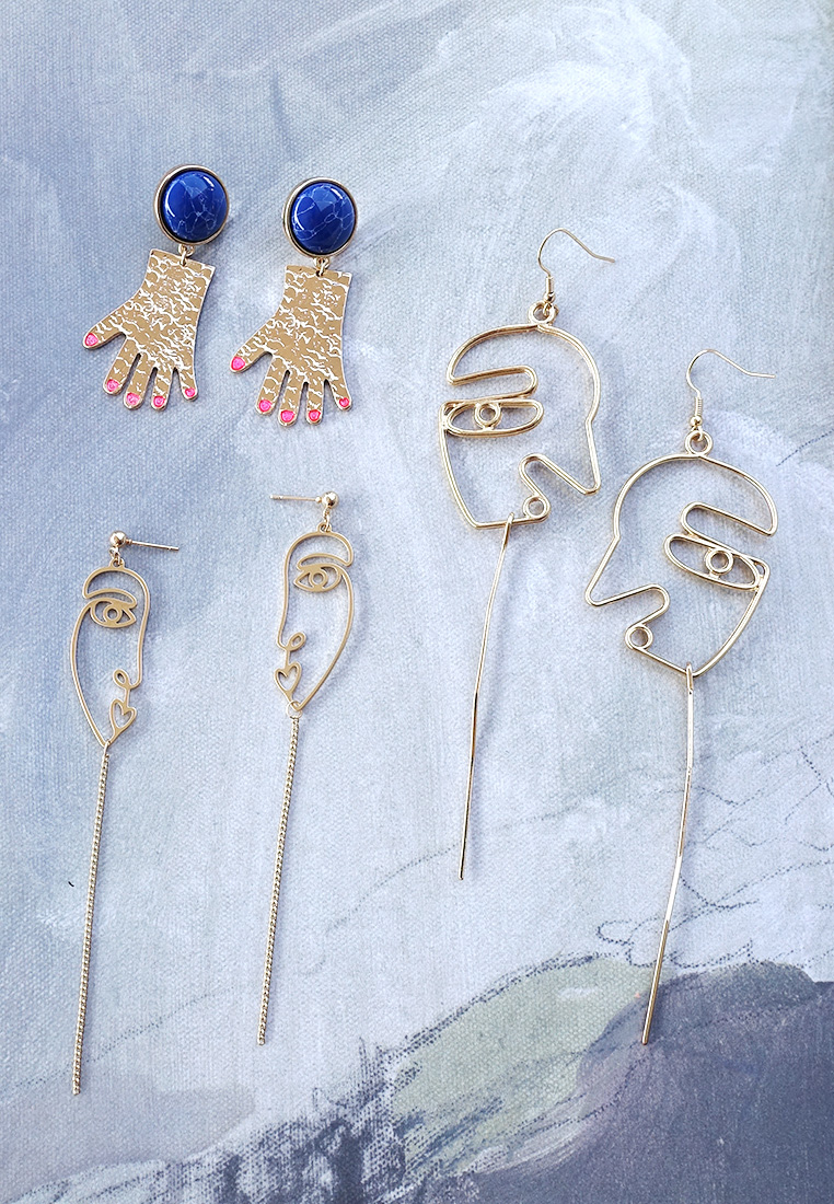 Face Profile Abstract Earrings