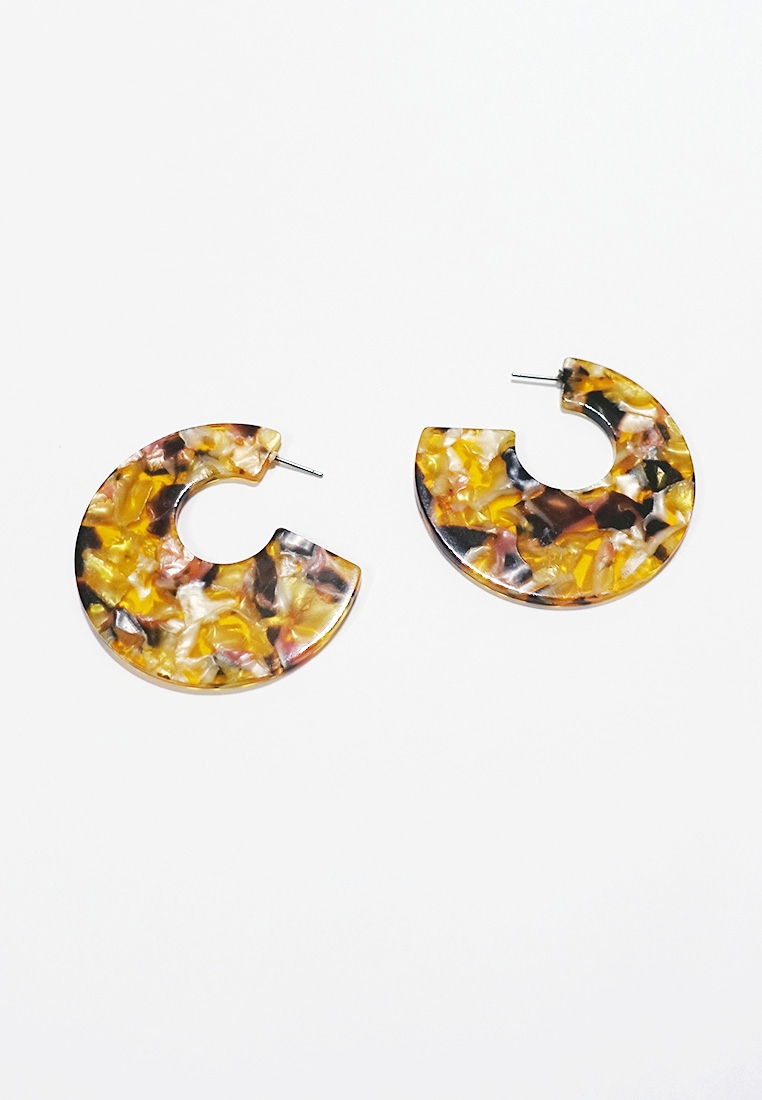 Faidra Resin Hoop Earrings