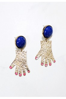 Hanging Structured Hands Earrings (S925 Post)