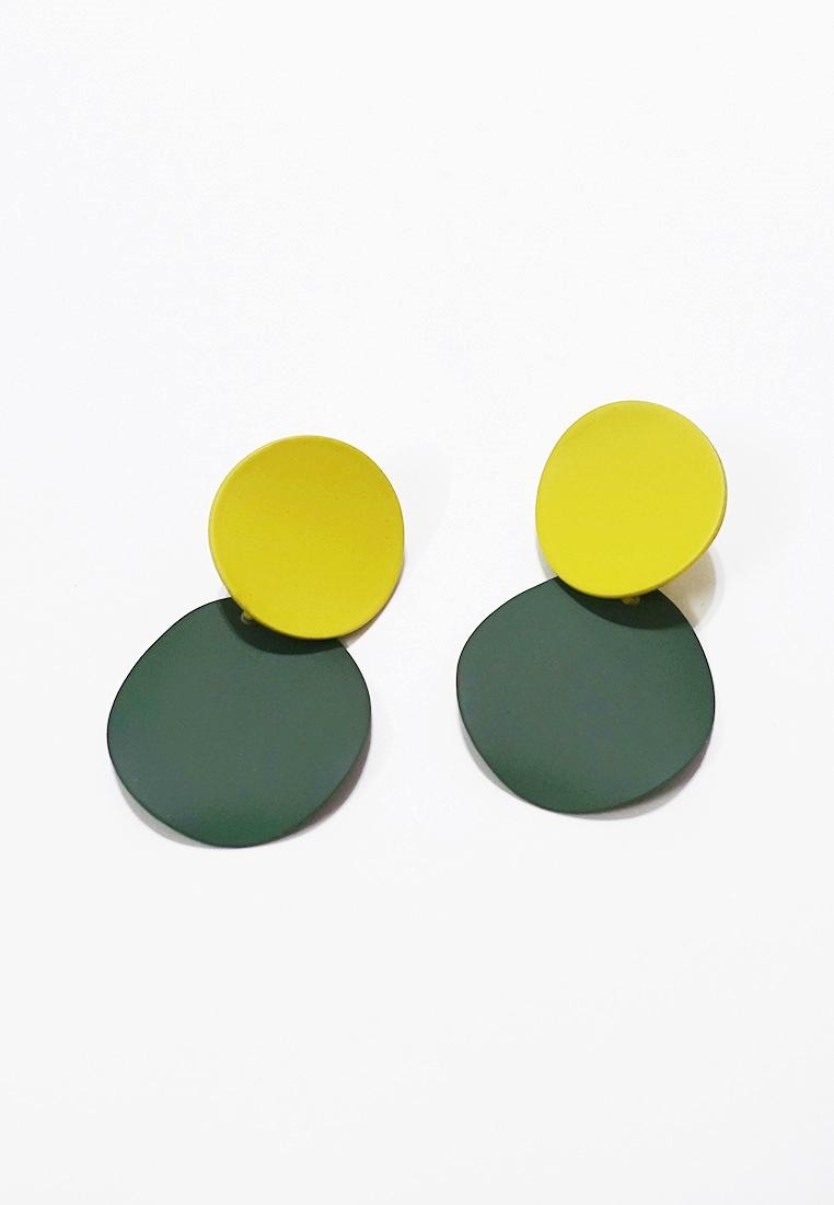 Double Disc Drop Earrings