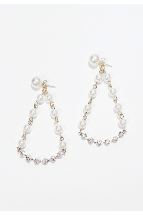 Miumiu Pearl & Crystal Earrings (S925 Post/ Clip-On)