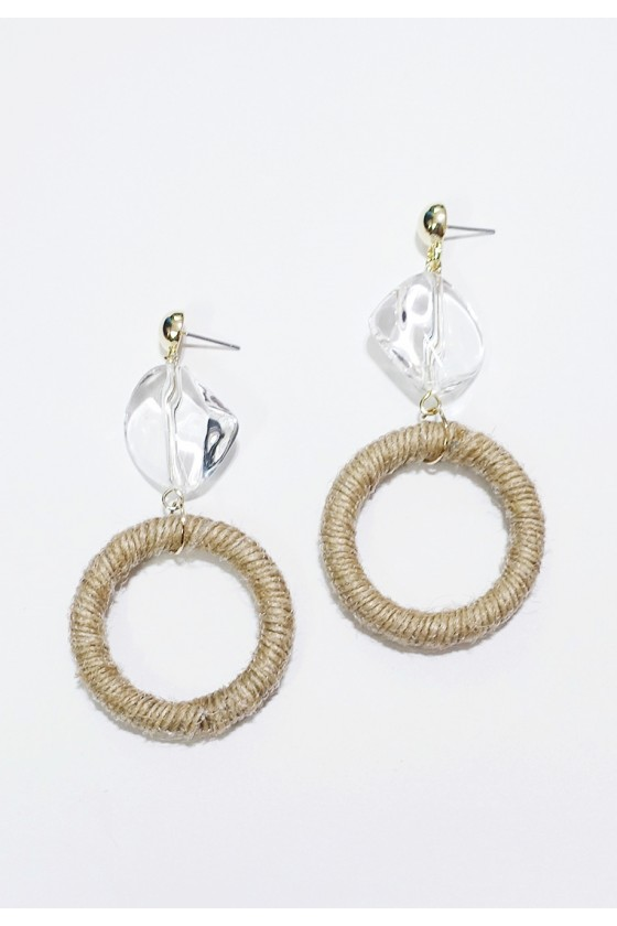 Twine Hoop Earrings