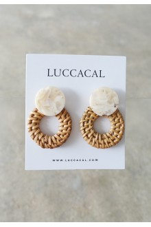 Resin Rattan Earrings
