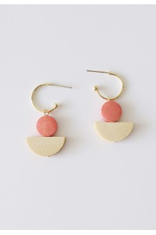 Geo Wooden Earrings (S925 Post)
