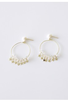 Star Shooter Hoop Earrings