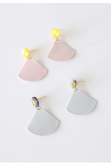 Pastel Triangle Earrings