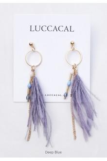Desiree Druzy Feather Earrings