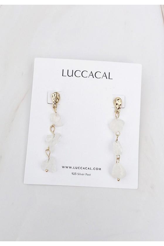 Quartz Cascading Drop Earrings
