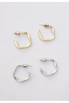 Mini Twist Hoop Earrings (S925 Post)