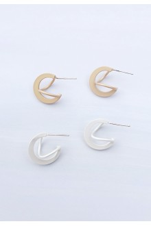 Mini Floating Hoop Earrings