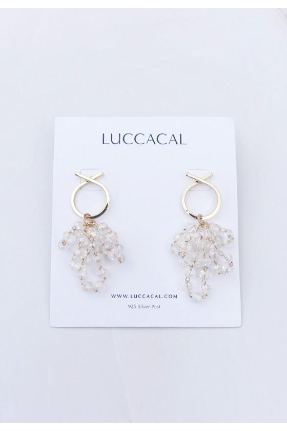 Crystal Grape Earrings