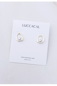 Arialis Floating Pearl Earrings
