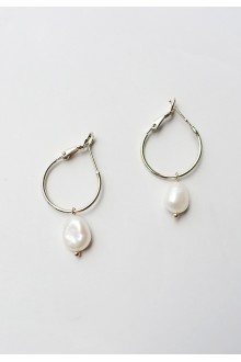 Akoya Baroque Pearl Hoop Earrings
