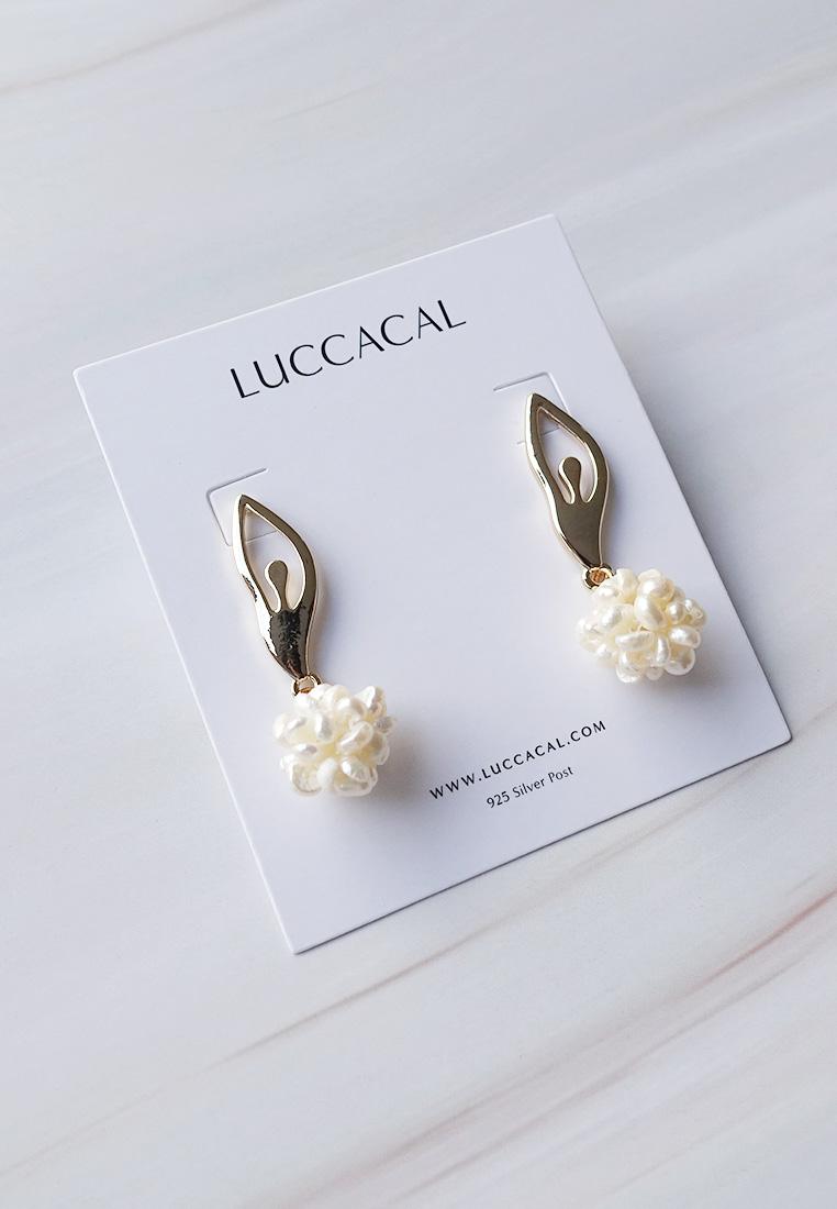 Ballerina Pearl Ball Earrings
