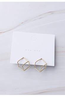 Golden Cube Earrings