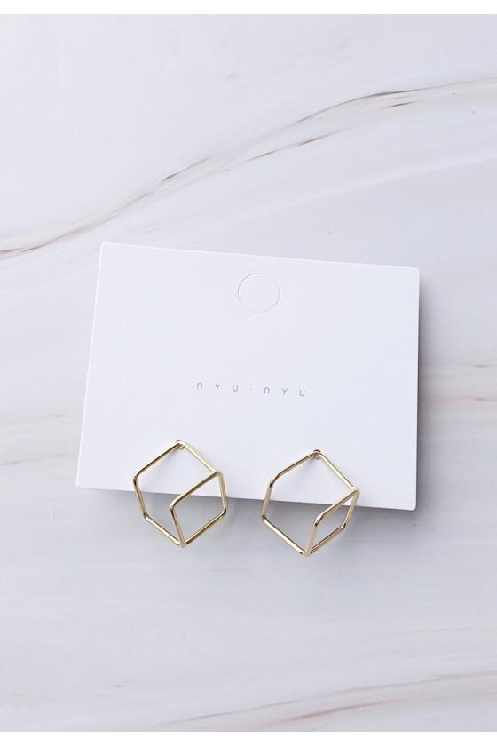 Golden Cube Earrings