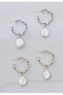 Seafoam Freshwater Pearl Earrings