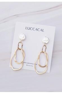 Faux-Pearl Hoop Earrings