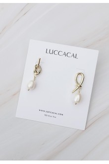 Love Knot Pearl Drop Earrings