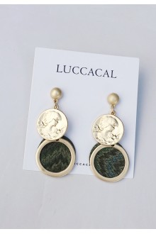 Emblem Coin Earrings