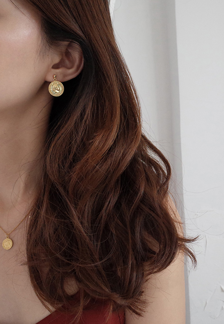 Elizabeth II Coin Earrings