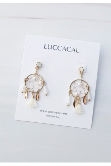 Devora Dream Catcher Drop Earrings