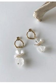 Vivian Pearl & Quartz Earrings