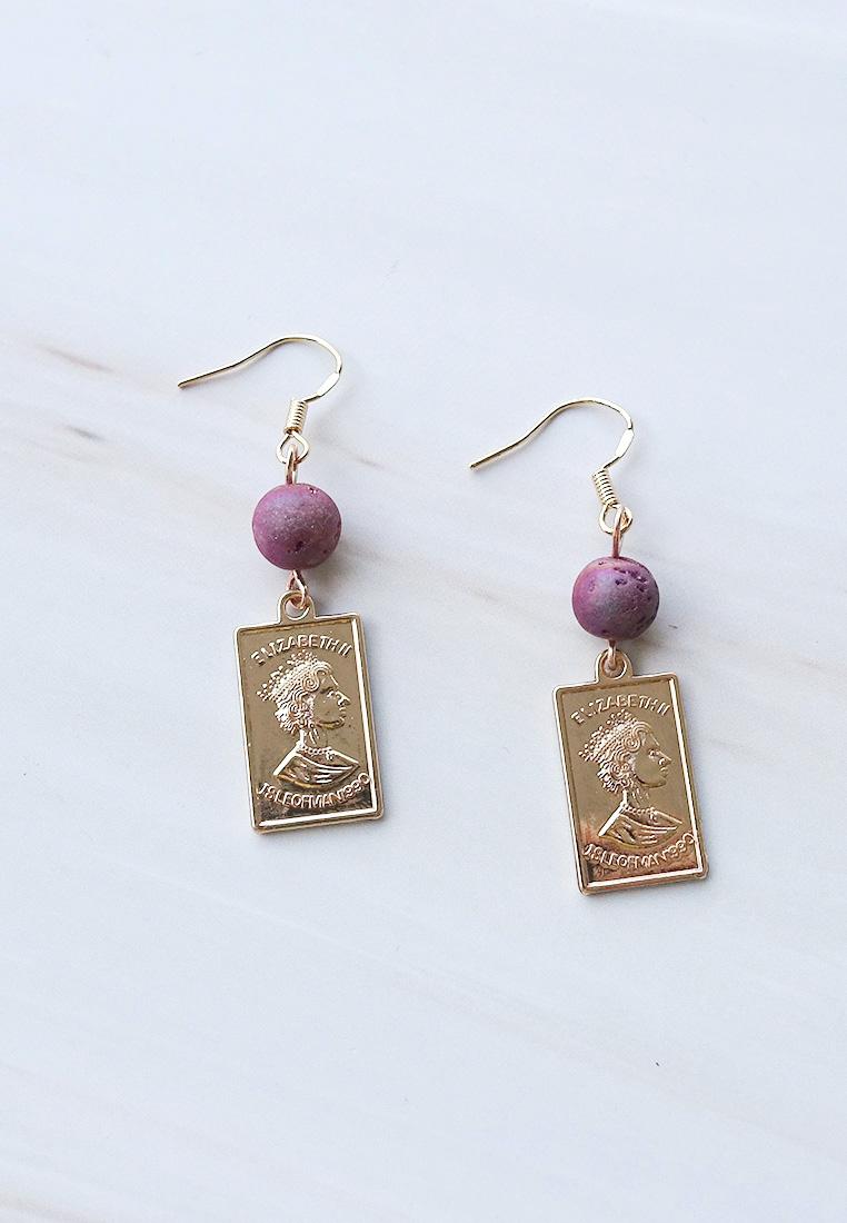 Isle of Man Coin Bead Earrings