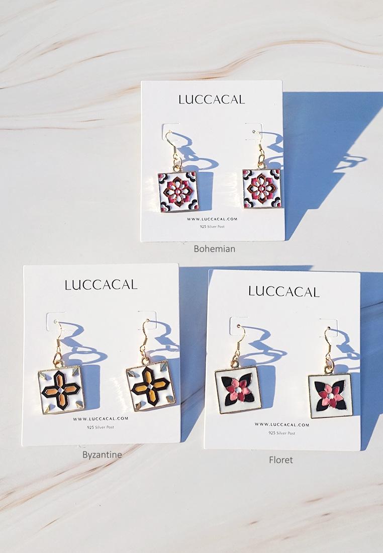 Medina Mosaic Enamel Earrings