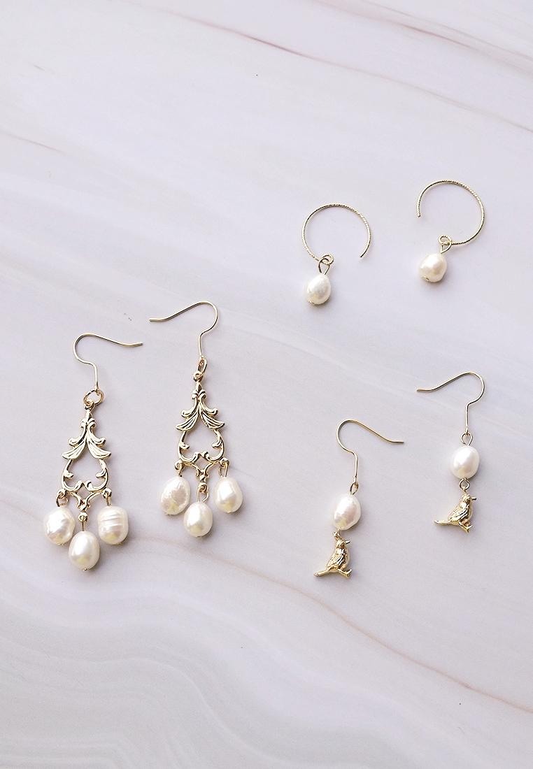 Birdie Pearl Earrings